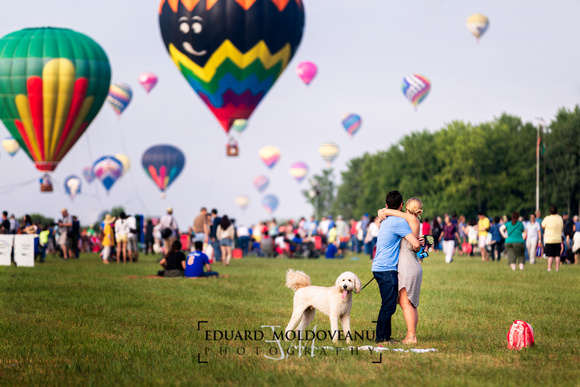 Romance at the ballooning festival